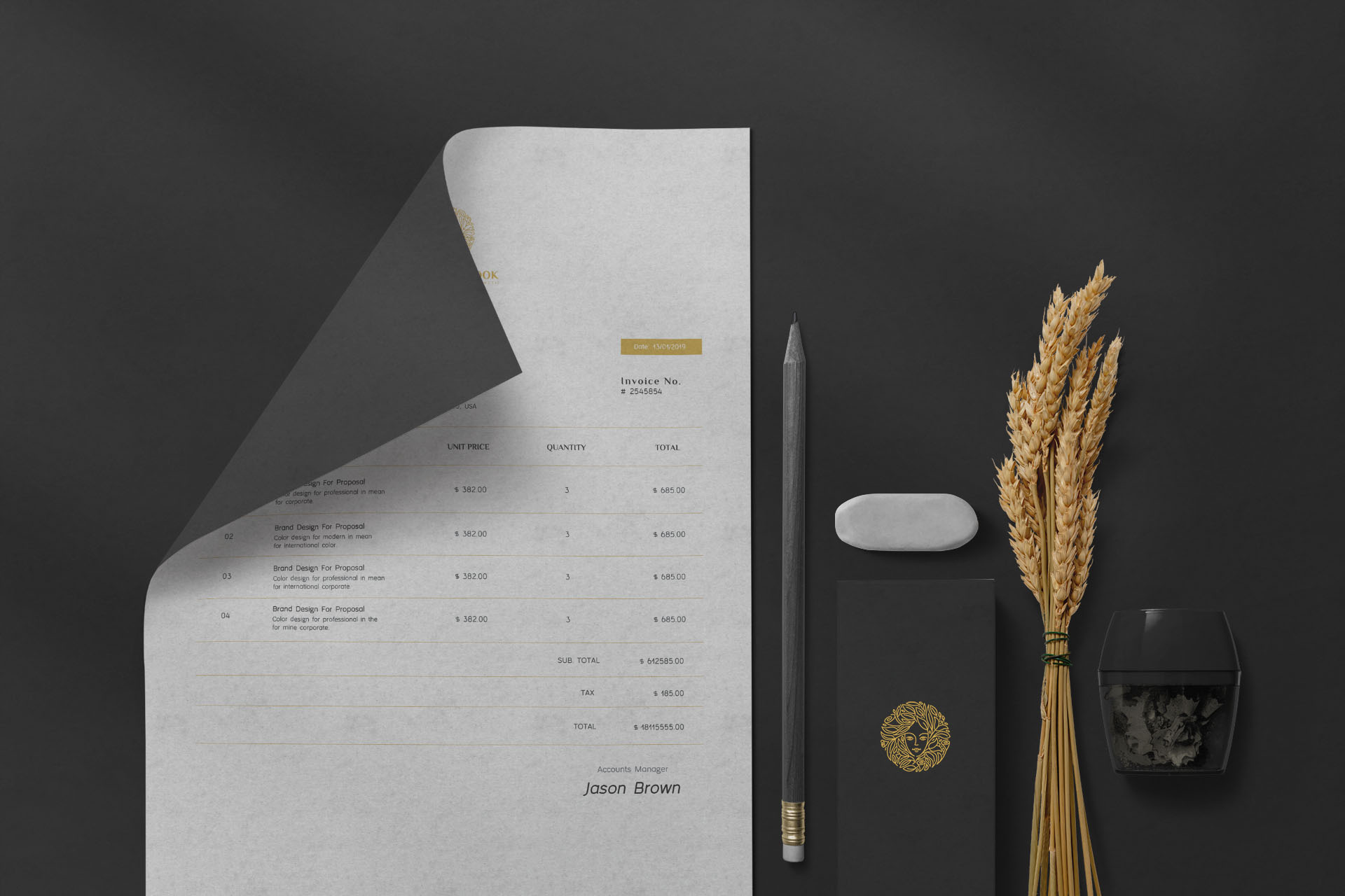 Permanent Look Business Invoice